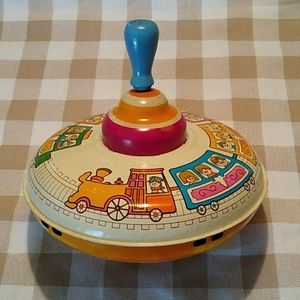 *Old Metal Spinning Top* Child's Toy